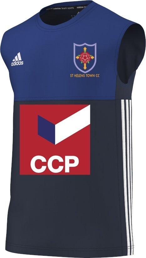 St Helens Town CC Adidas Navy Training Vest