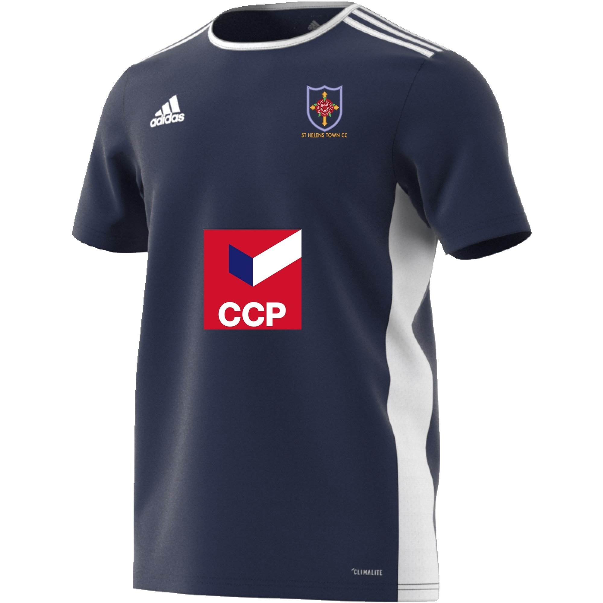 St Helens Town CC Adidas Navy Training Jersey