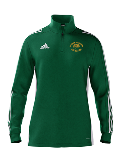 Walsham Le Willows CC Adidas Green Zip Training Top