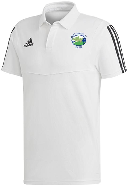 Hirst Courtney CC Adidas White Polo