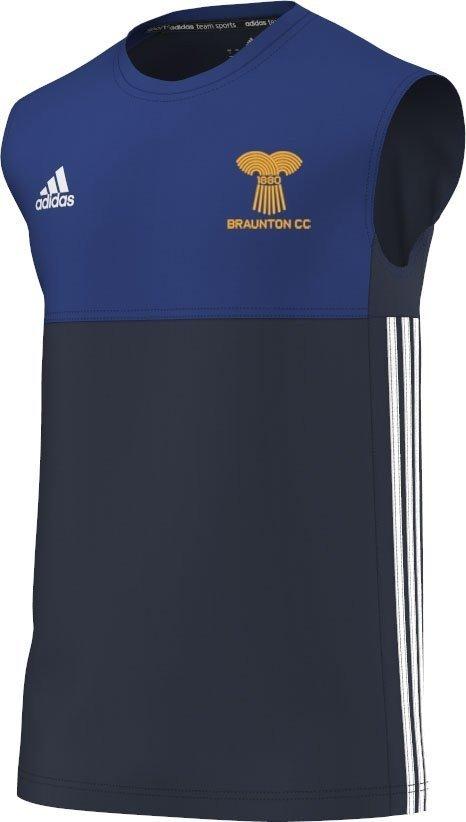 Braunton CC Adidas Navy Training Vest