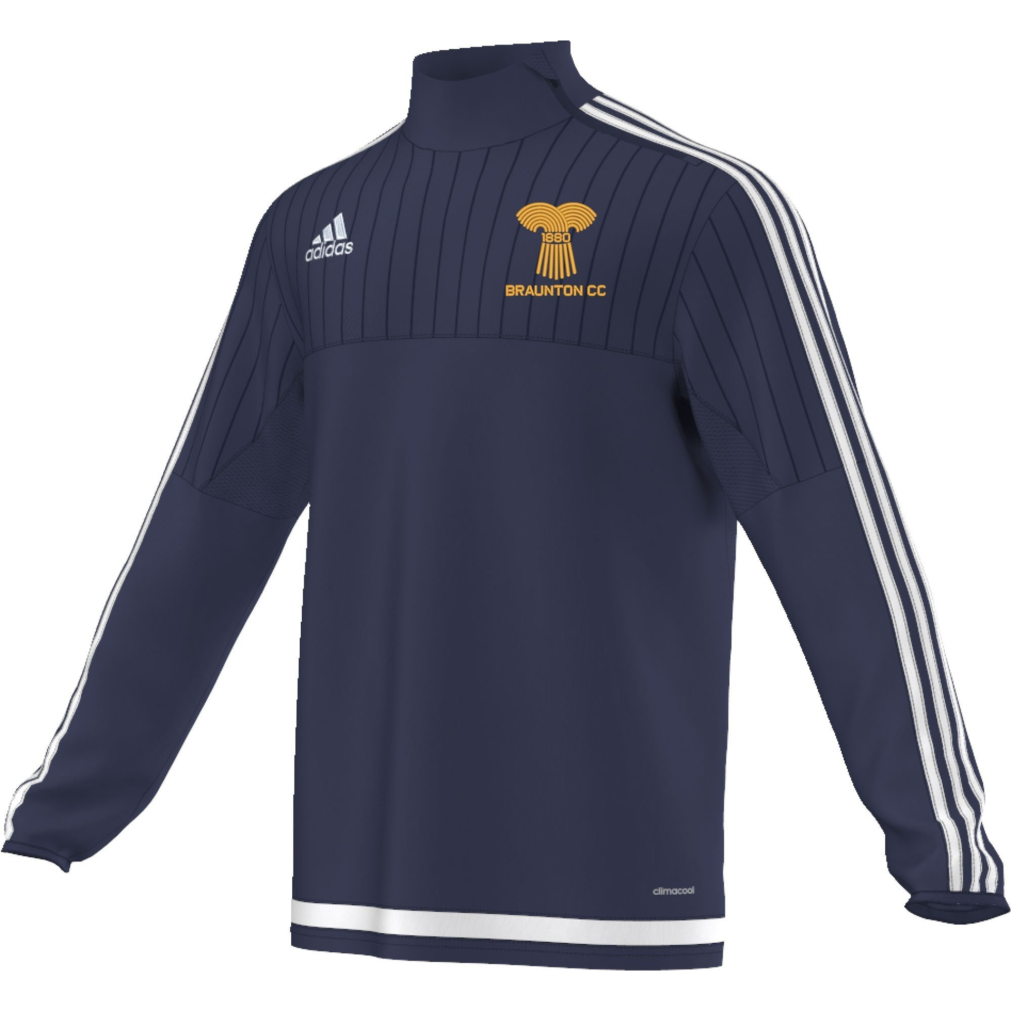 Braunton CC Adidas Navy Training Top