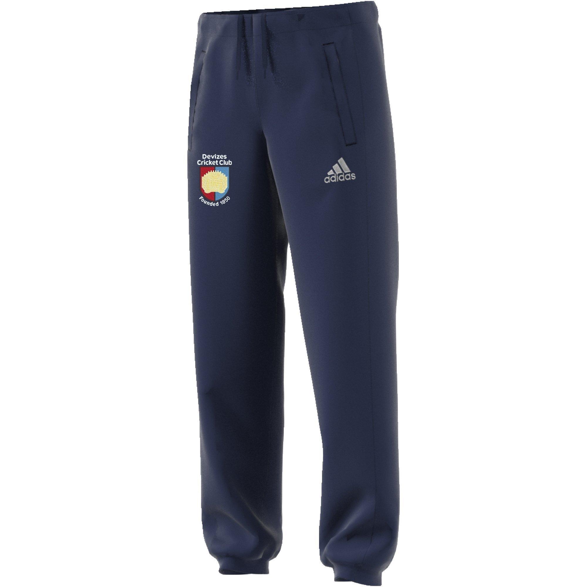 Devizes CC Adidas Navy Sweat Pants