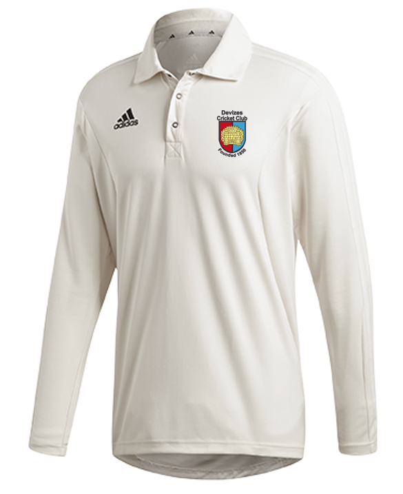 Devizes CC Adidas Elite Long Sleeve Shirt