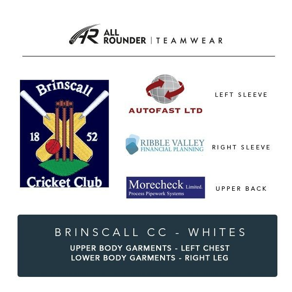 Brinscall CC Embroidery Details
