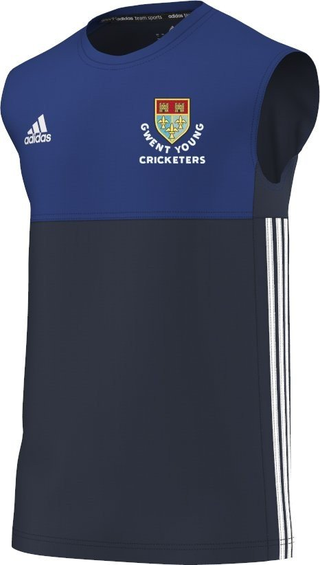 Gwent Young Cricketers Adidas Navy Training Vest
