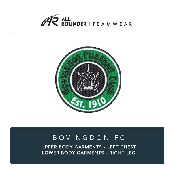 Bovingdon FC Embroidery Details