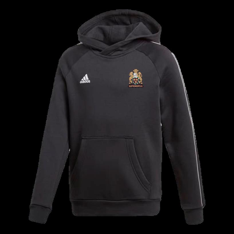East Horsley CC Adidas Black Junior Fleece Hoody