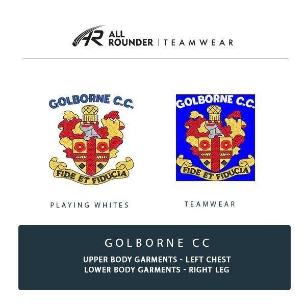 Golborne CC Embroidery Details