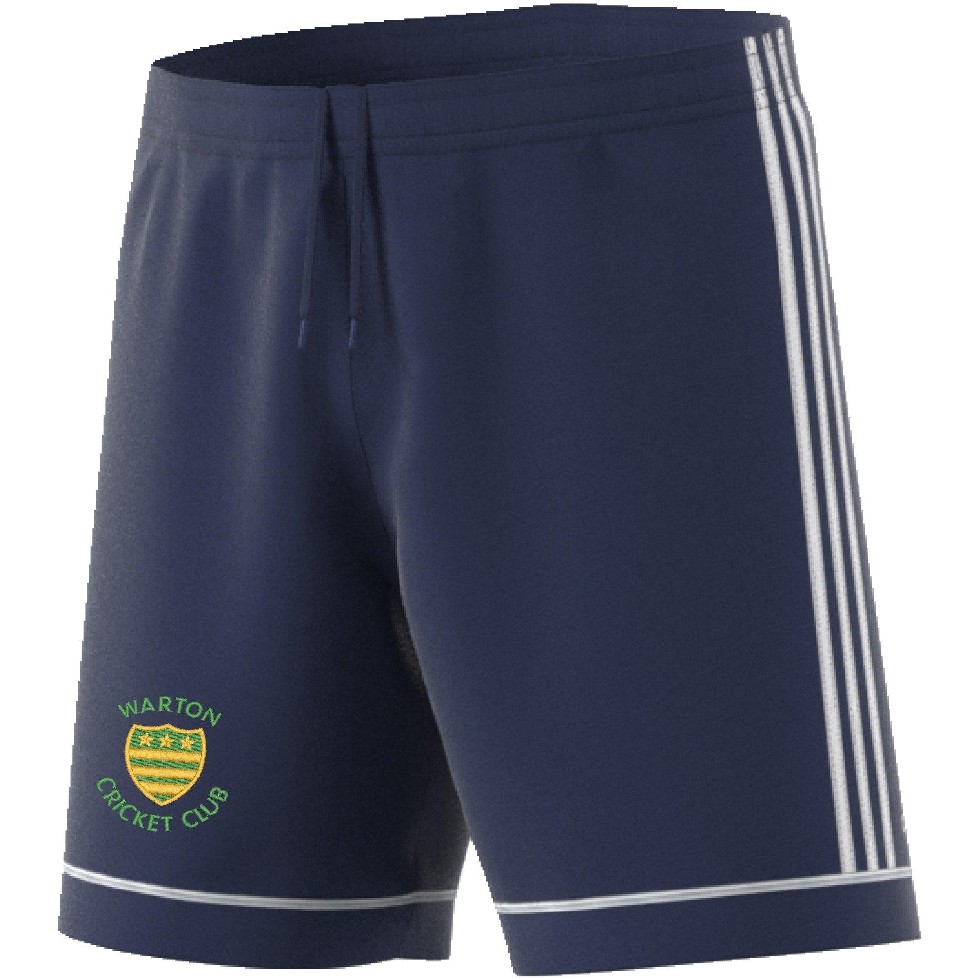 Warton CC Adidas Navy Junior Training Shorts