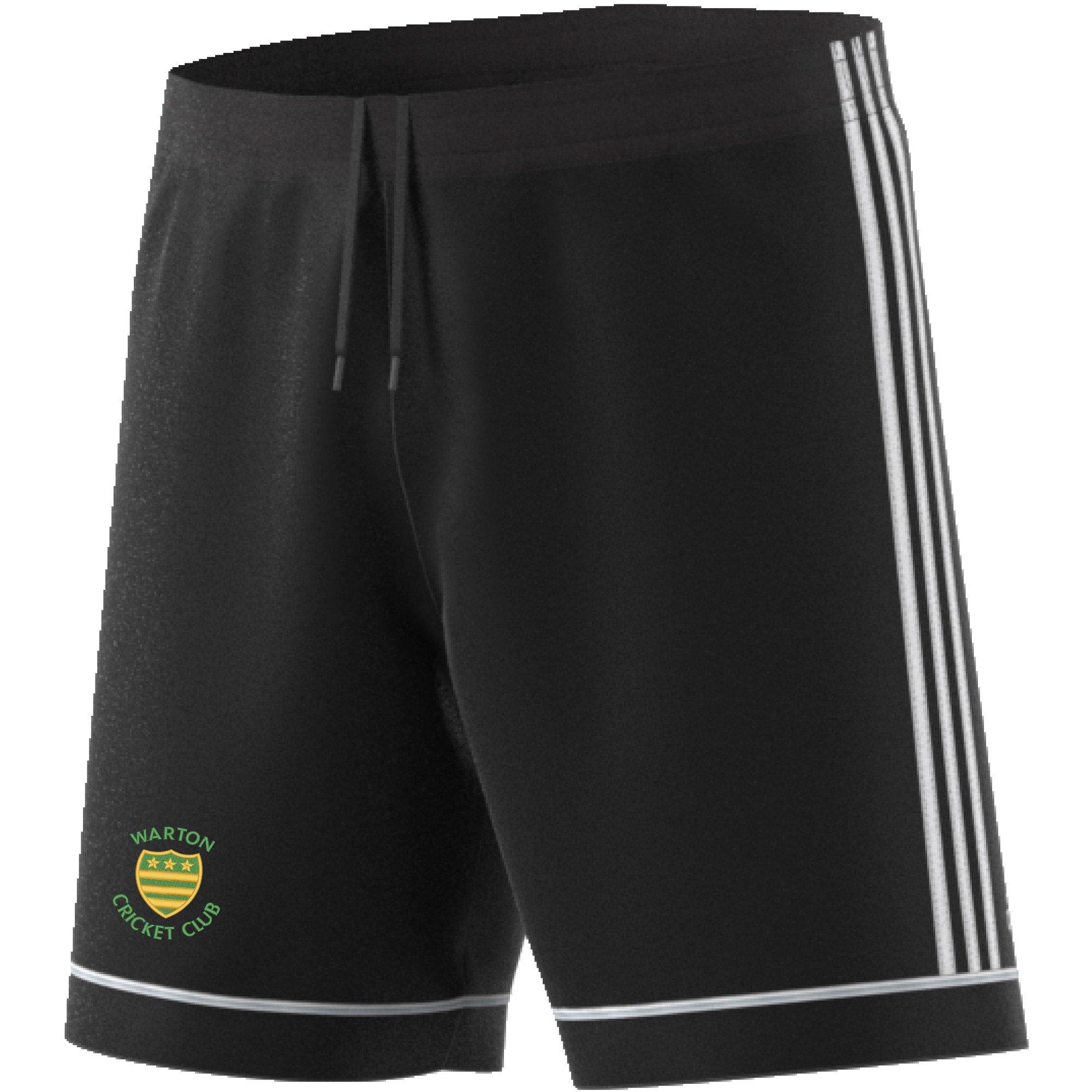 Warton CC Adidas Black Junior Training Shorts