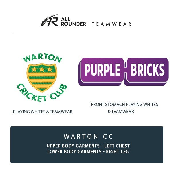 Warton CC Embroidery Details