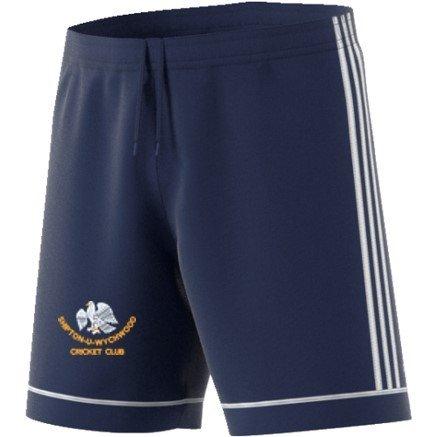 Shipton under Wychwood CC Adidas Navy Junior Training Shorts