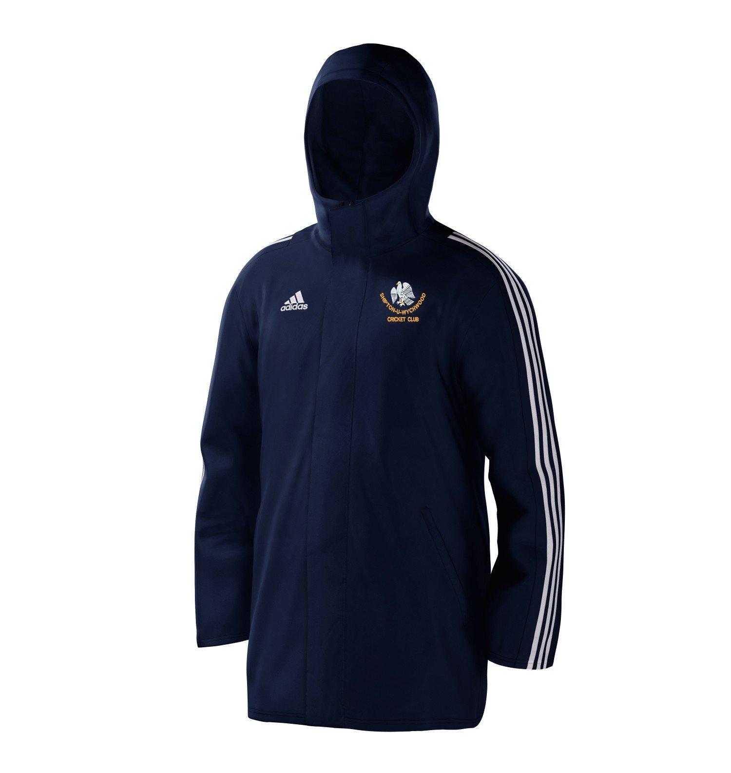 Shipton Under Wychwood Cricket Club Navy Adidas Stadium Jacket