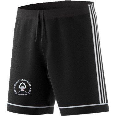 Greenwood Park CC Adidas Black Training Shorts