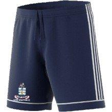 Long Whatton CC Adidas Navy Junior Training Shorts