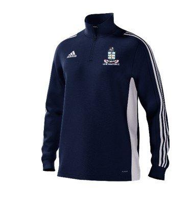 Long Whatton CC Adidas Navy Junior Training Top