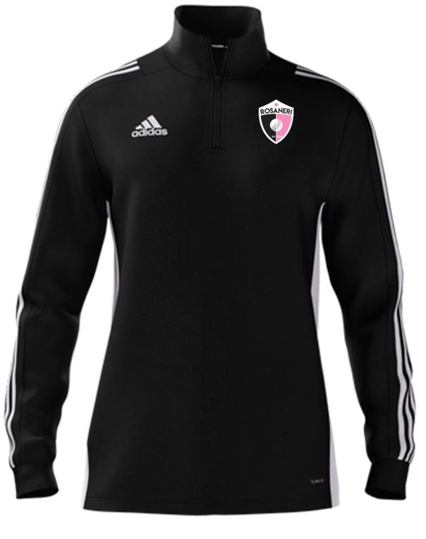Rosaneri CC Adidas Black Zip Junior Training Top