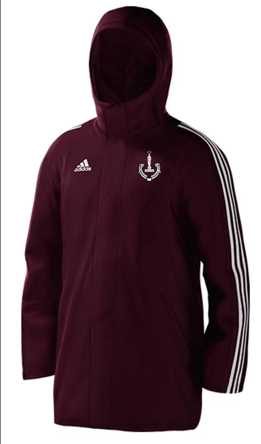 New Earswick CC Maroon Adidas Stadium Jacket