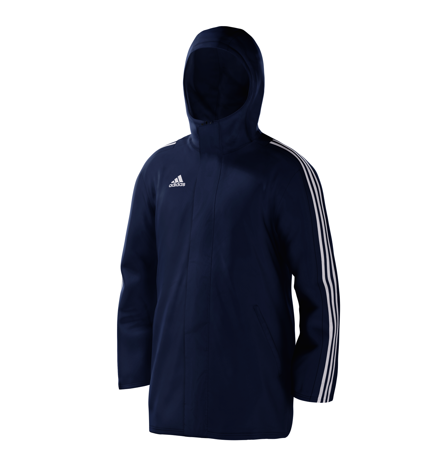 Ebrington CC Navy Adidas Stadium Jacket