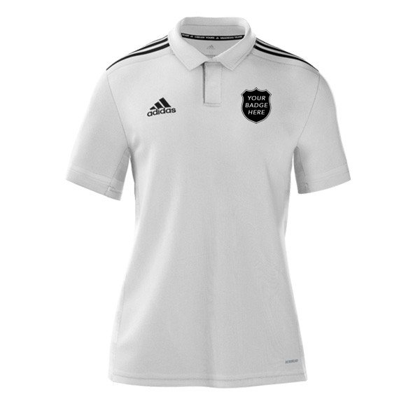 Mirfield CC Adidas White Polo