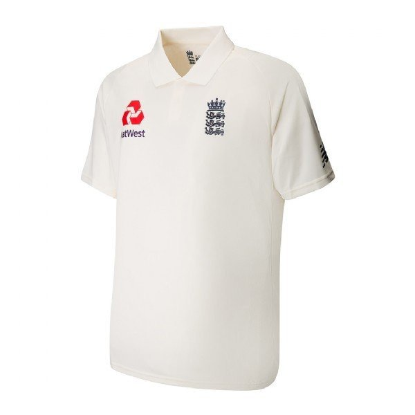 2017 New Balance England Replica Junior Test Cricket Shirt