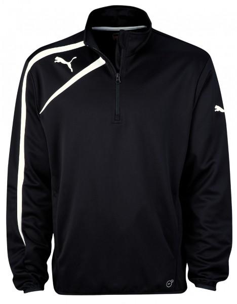 PUMA Spirit Black Training Jacket with Half Zip