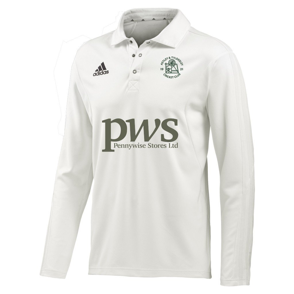 Astley and Tyldesley CC Adidas L-S Playing Shirt
