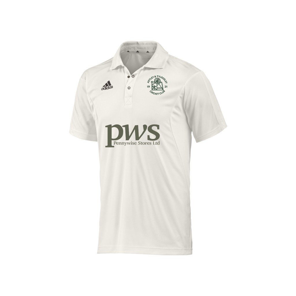 Astley and Tyldesley CC Adidas Junior Playing Shirt