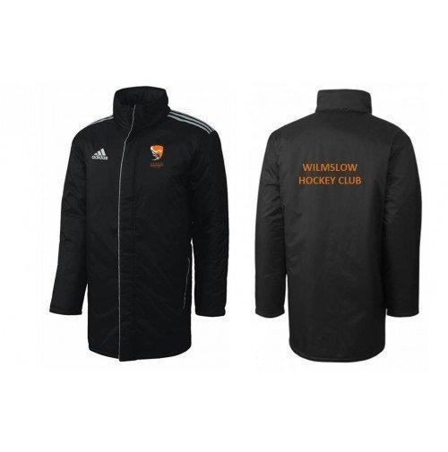 Wilmslow Hockey Club Black Adidas Bench Jacket