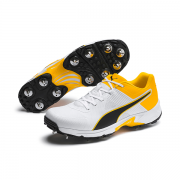 2020 Puma 19.1 Spike Cricket Shoes - White/Black/Orange