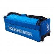 2021 Kookaburra Pro 3.0 Wheelie Cricket Bag - Navy/Cyan