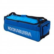 2020 Kookaburra 4.0 Wheelie Cricket Bag - Navy/Cyan