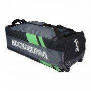 2021 Kookaburra Pro 7.0 Wheelie Cricket Bag - Black/Lime