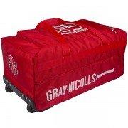 2021 Gray Nicolls GN 100 Wheelie Cricket Bag - Red