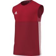 Upper Hopton CC Adidas Red Training Vest