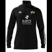 Barts and The London CC Adidas Black Zip Junior Training Top
