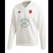 Knowle Village CC Adidas Elite Long Sleeve Sweater