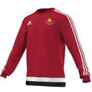 Lightcliffe CC Adidas Red Sweat Top