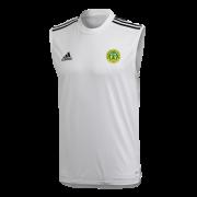 Meanwood CC Adidas White Training Vest