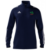 Oakamoor CC Adidas Navy Zip Junior Training Top