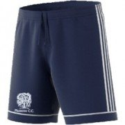 Plumtree CC Adidas Navy Junior Training Shorts