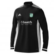 Uffington CC Adidas Black Zip Training Top