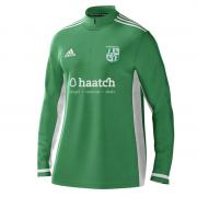 Uffington CC Adidas Green Zip Training Top