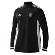 Willey Wanderers CC Adidas Black Zip Training Top