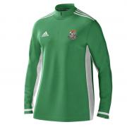 Willey Wanderers CC Adidas Green Zip Training Top