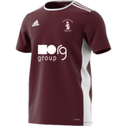 Doncaster Town CC Adidas Maroon Junior Training Jersey