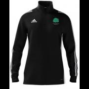 Llanarth CC Adidas Black Zip Junior Training Top
