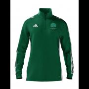 Llanarth CC Adidas Green Zip Junior Training Top