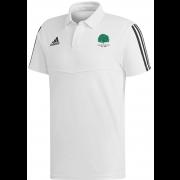 Llanarth CC Adidas White Polo